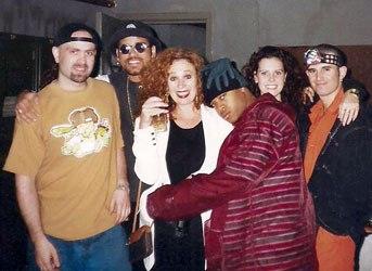 E-Sassin on tour with The Movement in Australia (circa 1993)